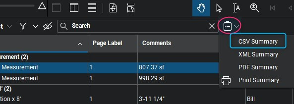Bluebeam – Exporting to Sigma step 1